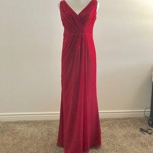 Beautiful Apple Red Bridesmaid Dress